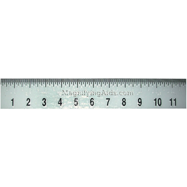Ruler Inches Vision ruler 2 x 12 inches