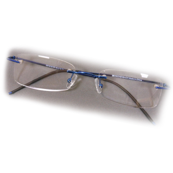 3 5 diopter eschenbach rimless reading glasses blue