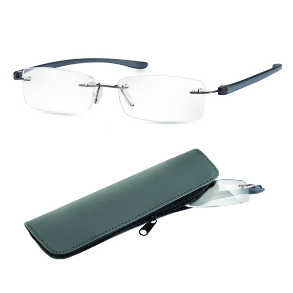 Large Frame Reader Glasses : Eschenbach +2.5 Diopter Ready Reading Glasses - Anthracite ...