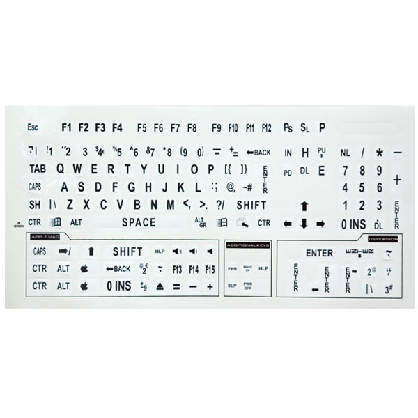 Blank Computer Keyboard Template Printable French keyboard template