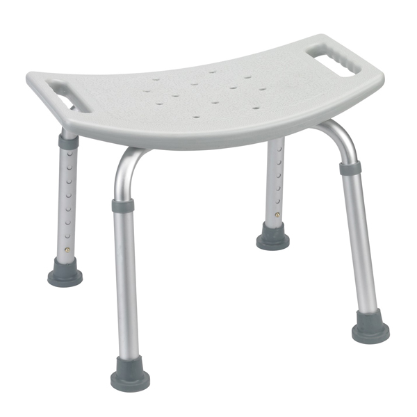 bathroom safety shower tub bench chair without back gray