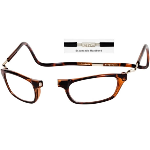 clic 2 5 diopter magnetic reading glasses expandable