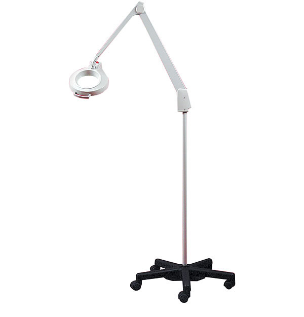 Lamps with magnifiers pedestal stand magnifiers clamping magnifiers 5x dazor stand model with rolling casters aloadofball Choice Image