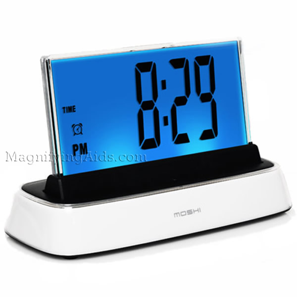 low vision clocks talking clocks voice activated clocks. Black Bedroom Furniture Sets. Home Design Ideas