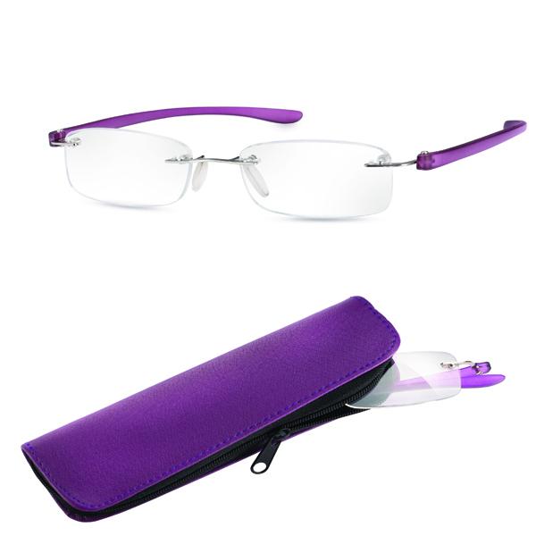 0e4b2bc9234 Eschenbach +4.0 Diopter Ready Reading Glasses - Purple Frame Small