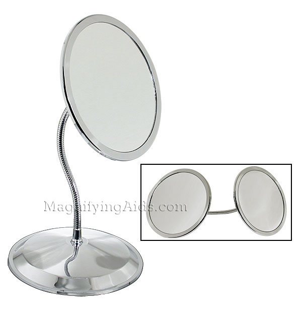 Zadro 10x 5x Doublevision Magnifying, Suction Magnifying Mirror For Bathroom