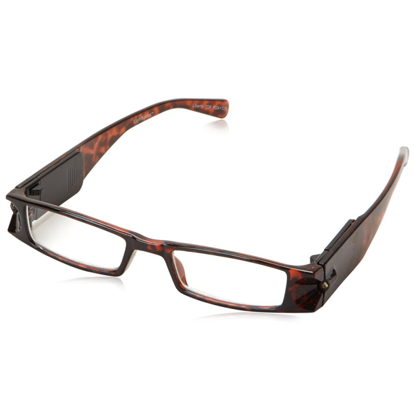 767202b3911 +2.0 Diopter Eschenbach LightSpecs LED Lighted Reading Glasses - Tortoise -  Liberty
