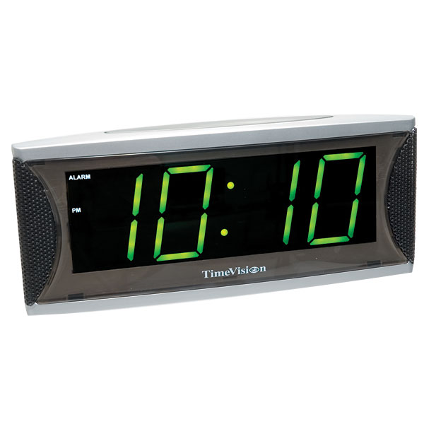 Super Loud 2 Inch Green LED Alarm Clock