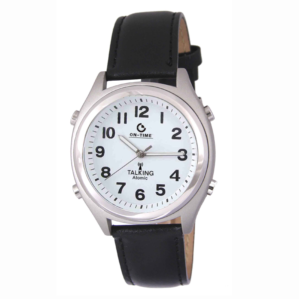 talking watches low vision man s atomic talking watch white face black numbers