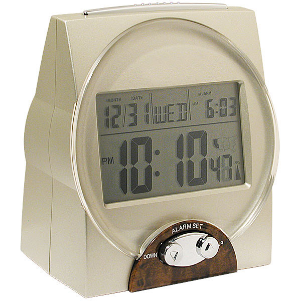 Talking Atomic Alarm Clock Time Month And Date