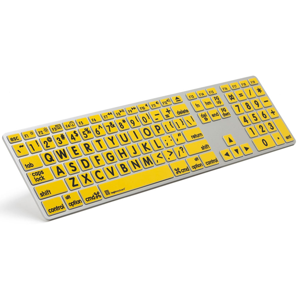 2e3e7c7e570 Apple Keyboard - Large Print Yellow Keys with Black Print