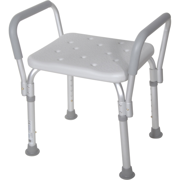 Bath Bench With Padded Arms Without Back