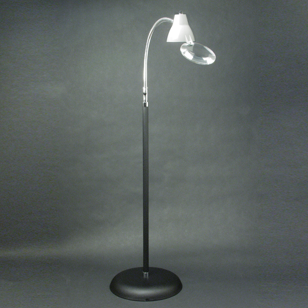 floor lamp and 2x magnifier with gooseneck 249 95 the big eye floor. Black Bedroom Furniture Sets. Home Design Ideas