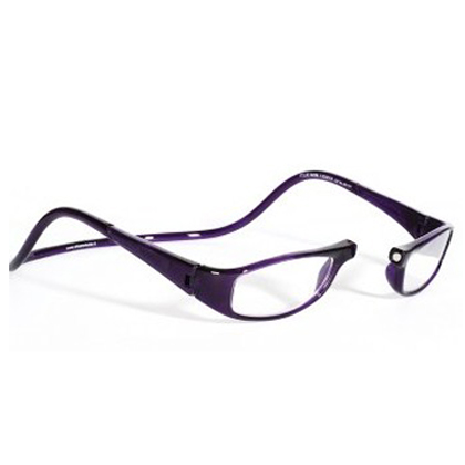 clic 2 5 diopter magnetic reading glasses purple