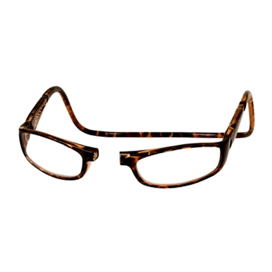 8a68e39797f CliC +1.25 Diopter Magnetic Reading Glasses  Euro - Tortoise Click to  Enlarge