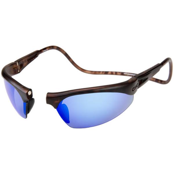 Clic Magnetic Sungl Ii Frame Tortoise Polarized Gray Brilliant Blue Lenses