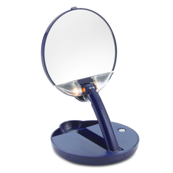 Floxite 15x Mirror Mate Lighted Adjustable Compact