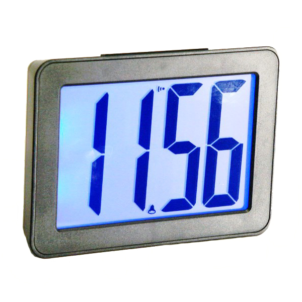 Jumbo LCD Display Alarm Clock With 9 Sounds