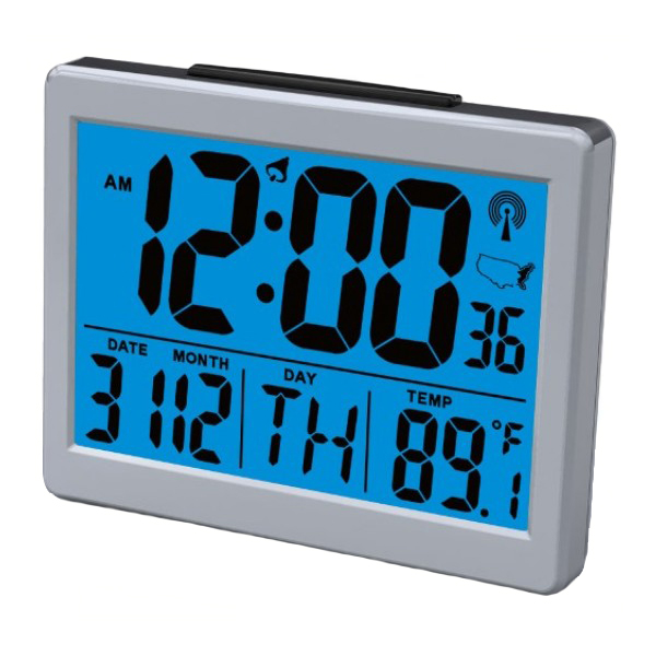 Large LCD Display Atomic Alarm Clock