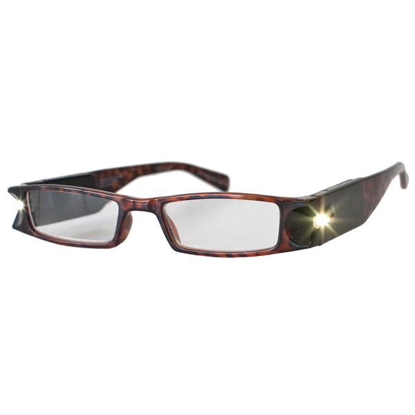 6ac799b8f43 +4.0 Diopter Eschenbach LightSpecs LED Lighted Reading Glasses - Tortoise -  Lindy