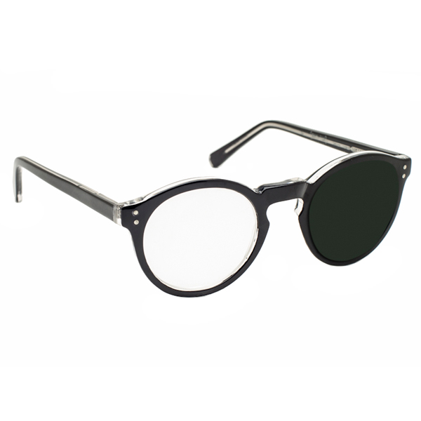 Reading Glasses Sunglasses  40 diopter magnifying reading glasses right eye magnified black