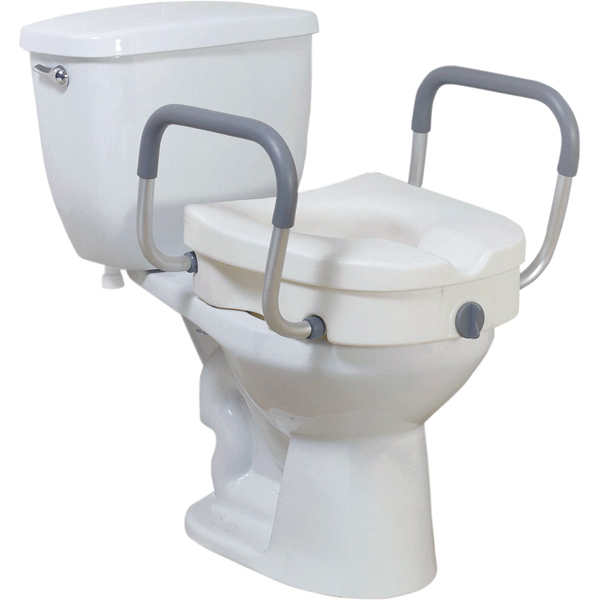 Surprising Raised Toilet Seat With Removable Padded Arms Ibusinesslaw Wood Chair Design Ideas Ibusinesslaworg