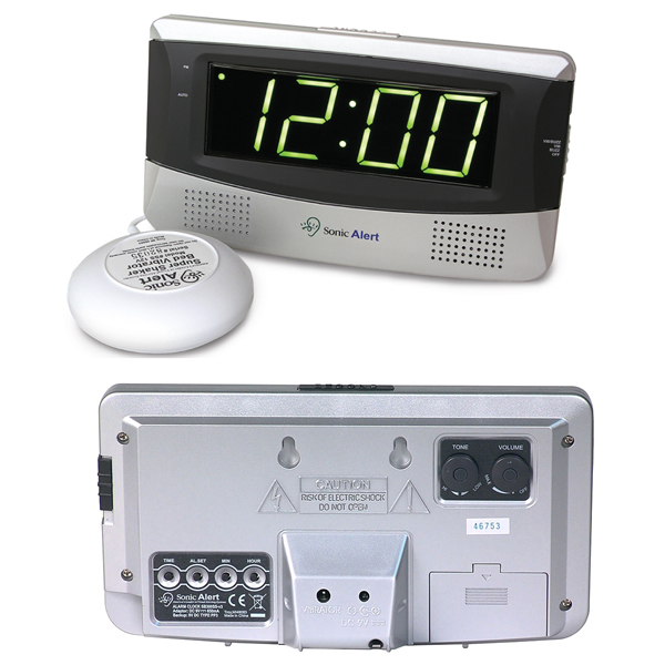 Sonic Alert SB300 Boom Loud Vibrating Alarm Clock With Large Display