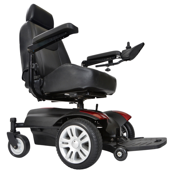 titan front wheel power wheelchair 18 inch full back. Black Bedroom Furniture Sets. Home Design Ideas