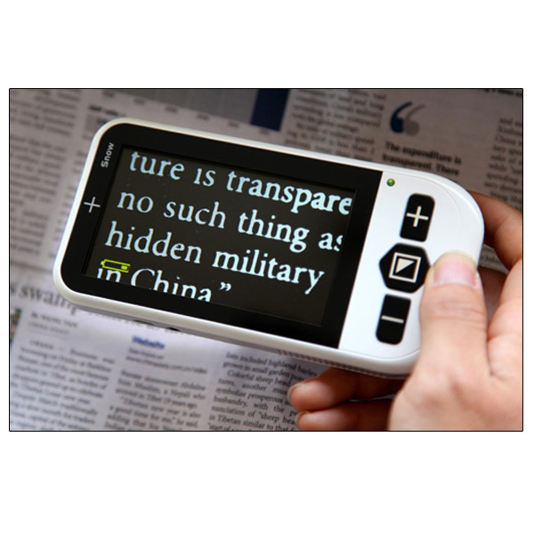 Snow - 4.3 Inch Color Video Magnifier - 3.5 Hrs. of Battery Use! d54190f71030
