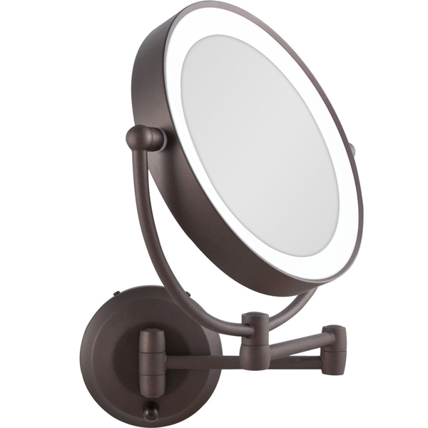 zadro 1x 10x cordless led lighted wall mount makeup mirror. Black Bedroom Furniture Sets. Home Design Ideas