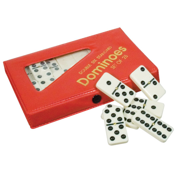 Large Size Spinner Dominoes Ivory With Black Dots